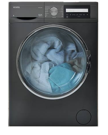Vestel Washer Dryer 8/6 KG Dark Silver D814LDX