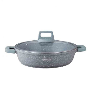 Royal Gourmet Shallow Casserole With Glass Lid 36cm SC36