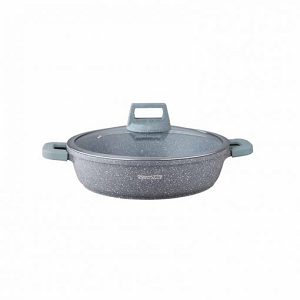 Royal Gourmet Shallow Casserole With Glass Lid 28cm SC28