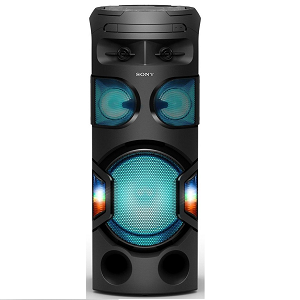 Sony High Power Portable Party Music System with 360-Degree Light Black MHC-V71D