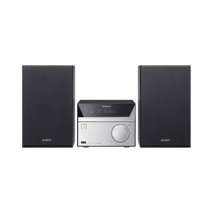 Sony Compact Hi-Fi System with CD Bluetooth NFC – Black/Silver CMT-SBT20