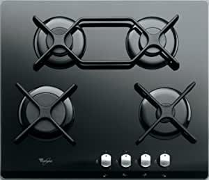 Whirlpool Hob 60CM Black Glass 4 Gas Burners AKT424NB