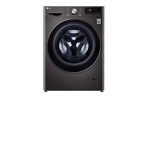 LG 10.5/7kg Front Load Washer & Dryer AI DD™ TurboWash™360˚ Black Steel Color WDV9142BRP