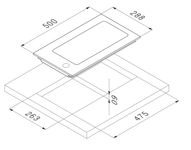 Smalvic Hob 30 cm PI-NC30 2