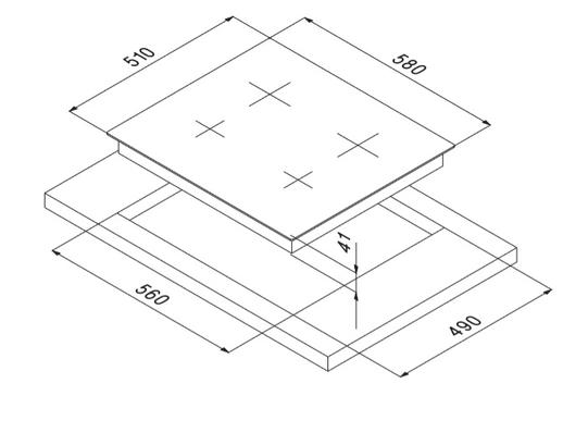 Smalvic Hob 60 cm PVC-60 4HLTC BTE64ET 2