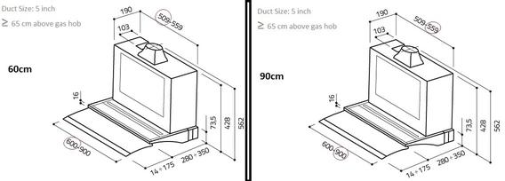 Elica Hood 90 CM Build in Glide*** 2