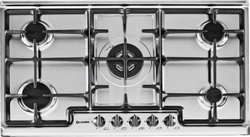 Smalvic Gas Stainless Steel Hob 90 CM Grey PD-90V4G1DC GG