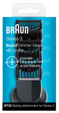 Braun Beard Trimmer Head +5 Combs BT32