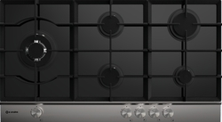 Smalvic 5 Burners Gas Hob BLACK PI-MF90 4GTC VS