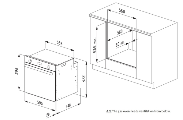 Smalvic Oven 60cm Best White FI-64GETC 2