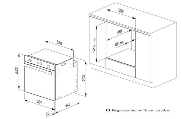 Smalvic Oven 60cm Grey FI-64GETC 2