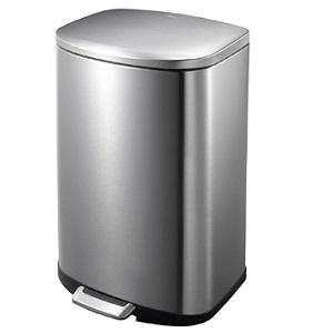 Eko Stainless Steel Utility Della Step Trash Can 50L EK9366MT-50L