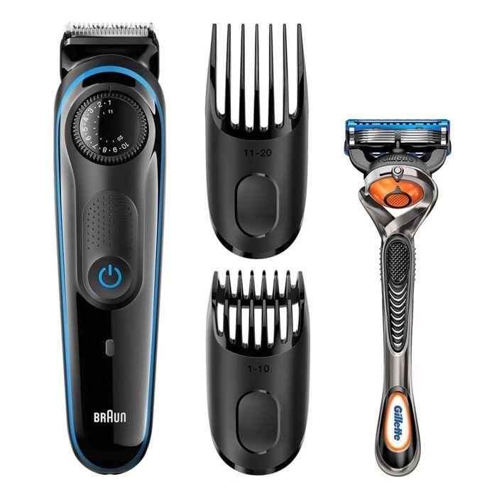 Braun BT3940TS Beard Trimmer For Men – Black/Blue 2