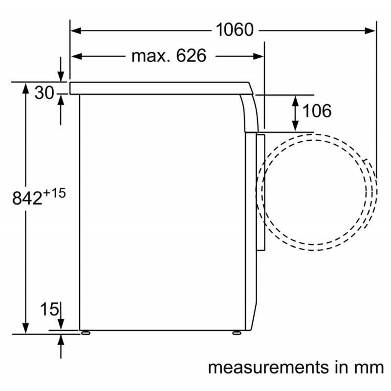 BOSCH Serie   4 condenser tumble dryer 7 kg WTE84102ME 5