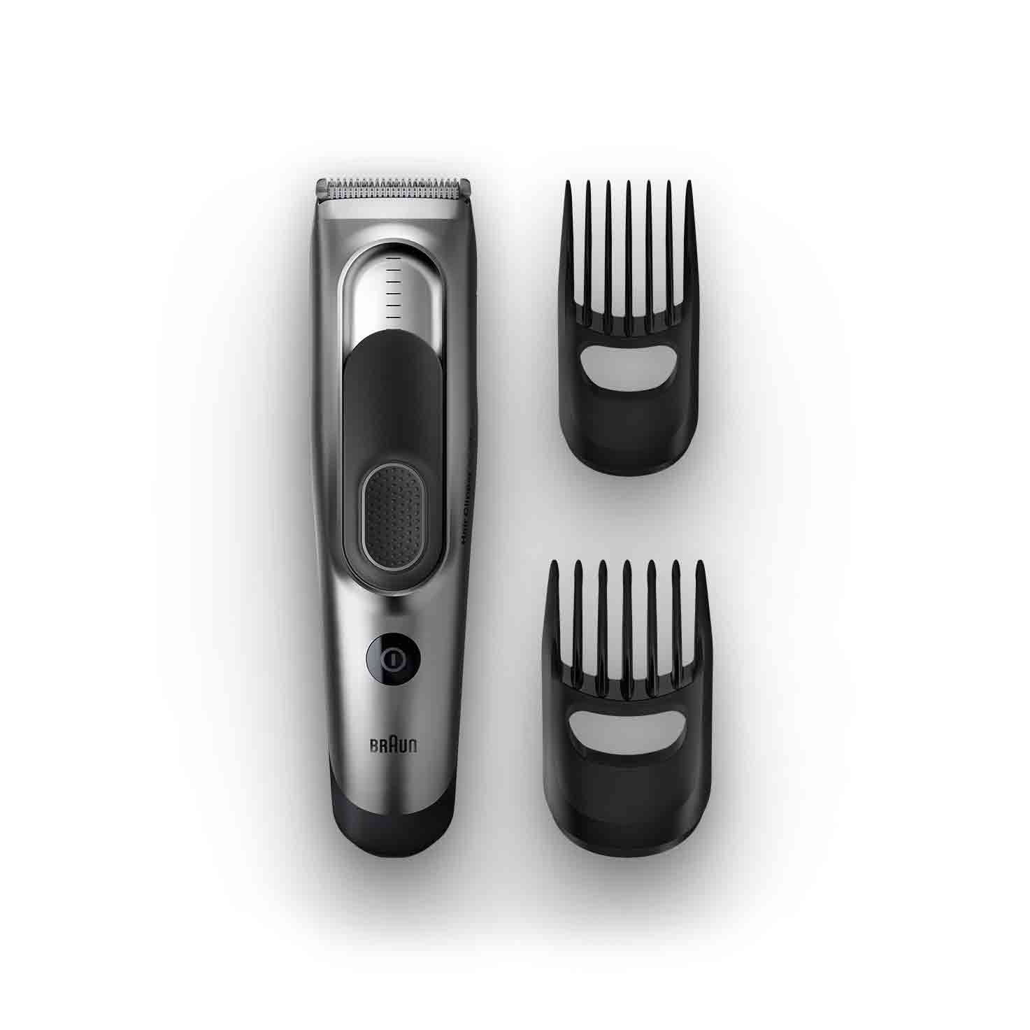 Braun Hair clipper HC5090 with 2 combs for 16 precise length settings, charging stand and pouch 4