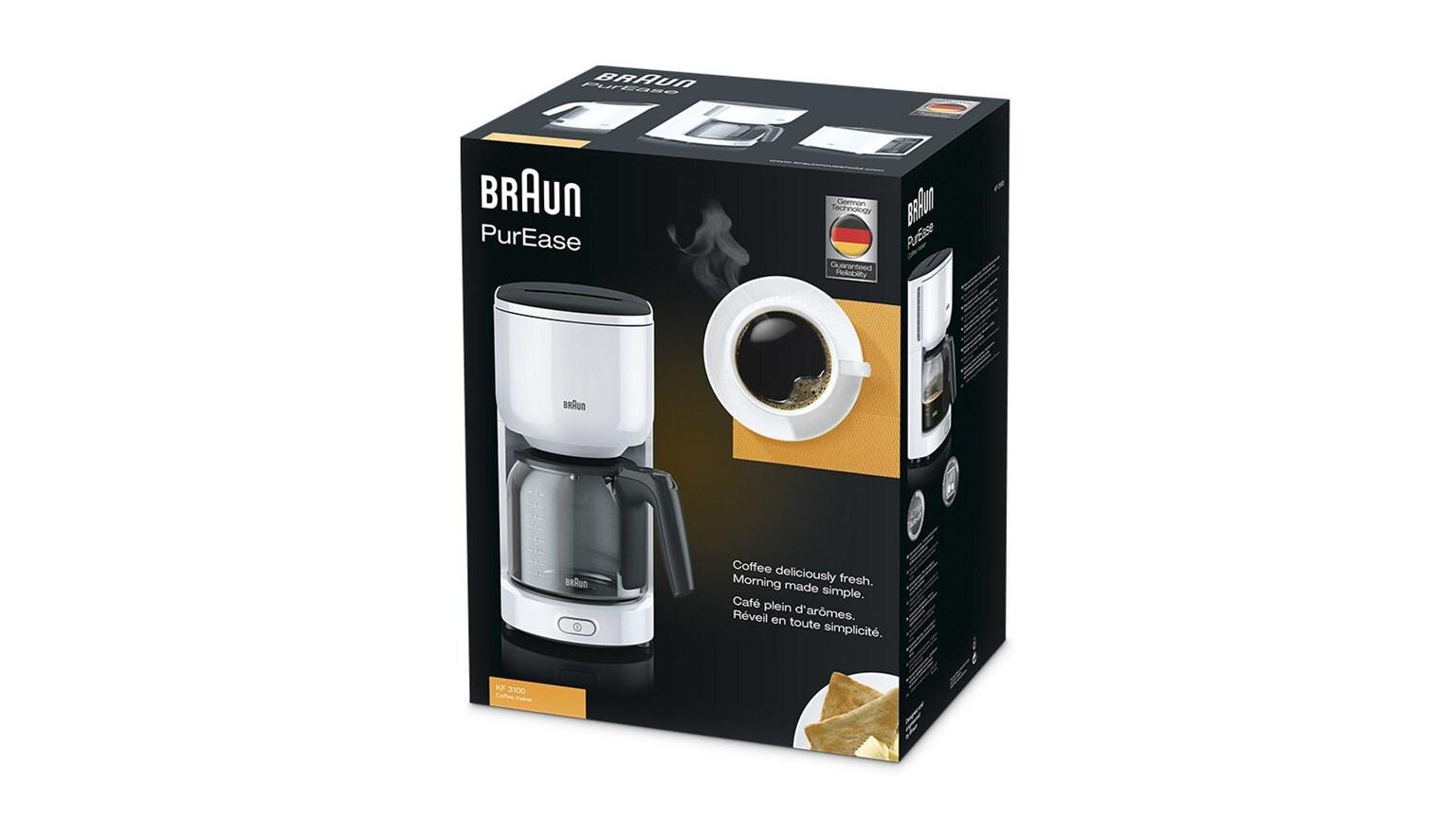 Braun PurEase Coffee Maker KF 3100 WH 4