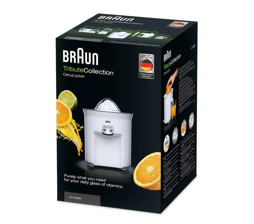 Braun Tribute Collection Citrus Juicer 60 Watts White CJ 3050 4