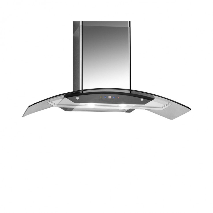 Campomatic Chimney Hood 90CM Glass And Stainless K590TSL