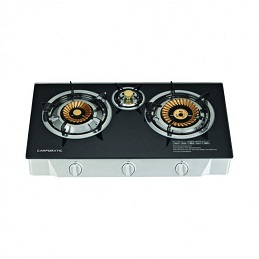 Campomatic Gas Cooker 3 Brass Burners GC300BG