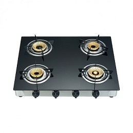Campomatic Gas Cooker 4 Brass Burners GC400BG
