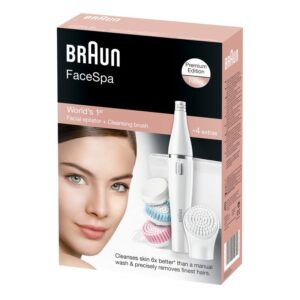 Braun Facial Epilator with Facial Cleansing Brushes, White, 851