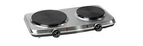 Campomatic Double Electric Plate SS 2250 W 18.5 Cm + 15.5 Cm EP200SS