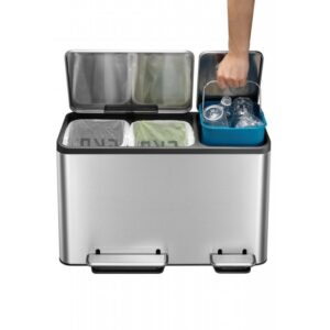 Eko Recycling Bin 15+15+15L EK9128MT-15+15+15L
