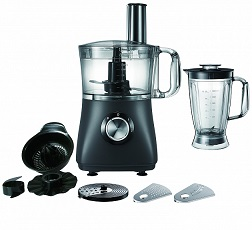 Campomatic Food Processor With Bowl 750W Black FP750BB