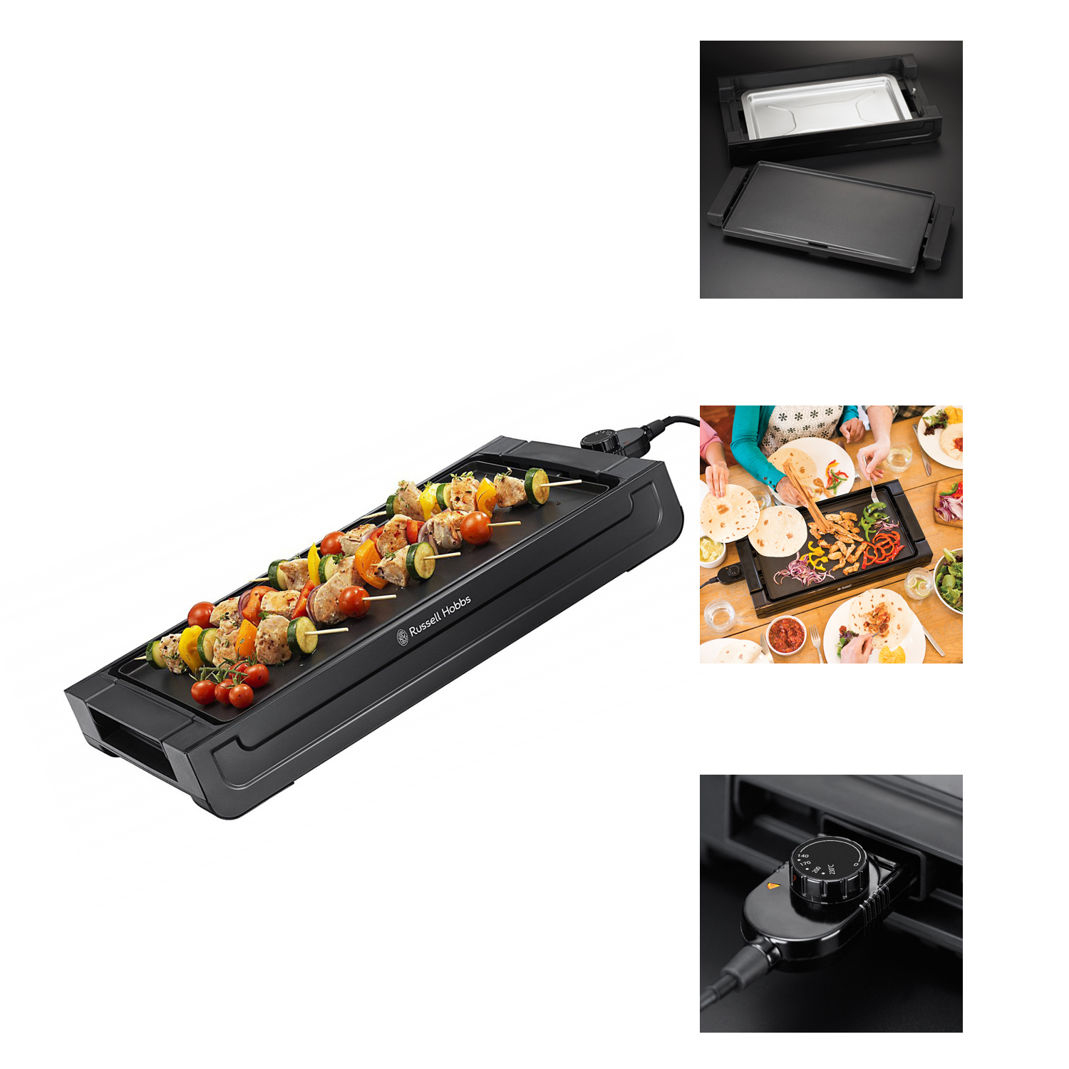 Russell Hobbs Fiesta Removable Plate Griddle 2