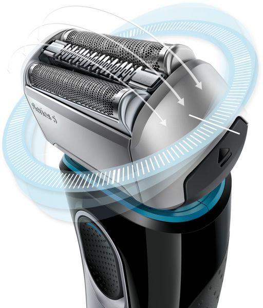 Braun Series 5 5140s Men's Electric Foil Shaver, Wet & Dry, Pop Up Precision Trimmer, Black/Blue 3