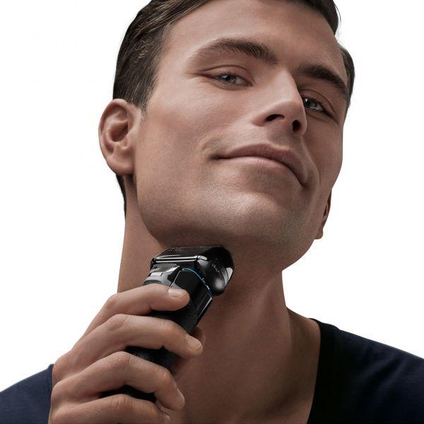 Braun Series 5 5140s Men's Electric Foil Shaver, Wet & Dry, Pop Up Precision Trimmer, Black/Blue 5