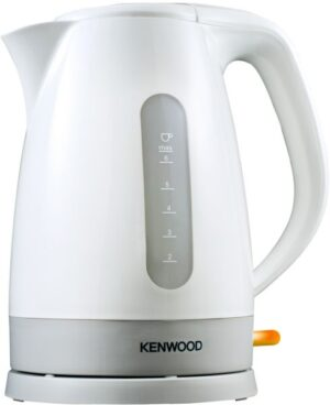 Kenwood Plastic Cordless Kettle 1.6L, White, 3KW, JKP280