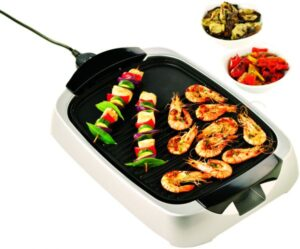 Kenwood HG266 Health Grill with Glass Lid - 2000 W, Silver
