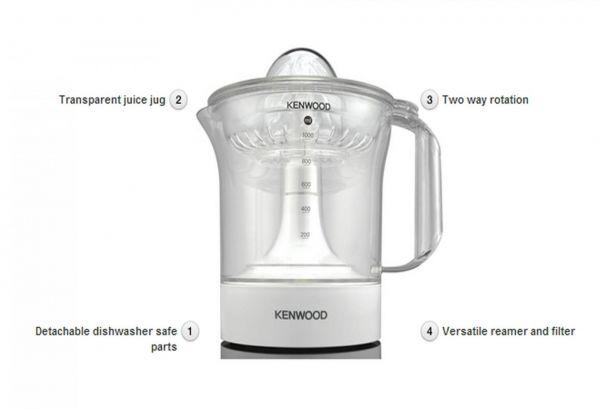 Kenwood Je280 1l 40 Watt White Plastic Citrus Juicer 3