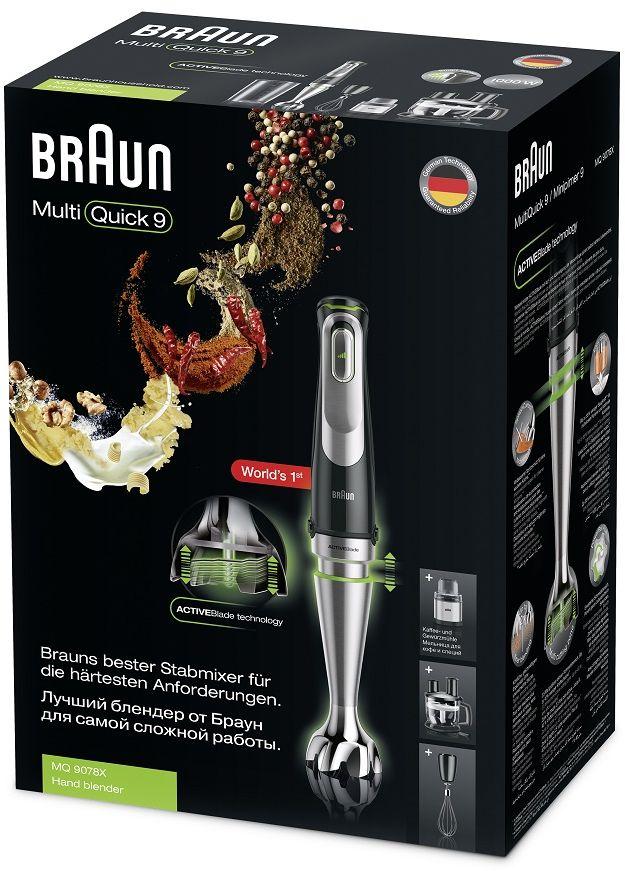 Braun MultiQuick 9 Hand Blender 1000 Watt Black MQ9078X 6
