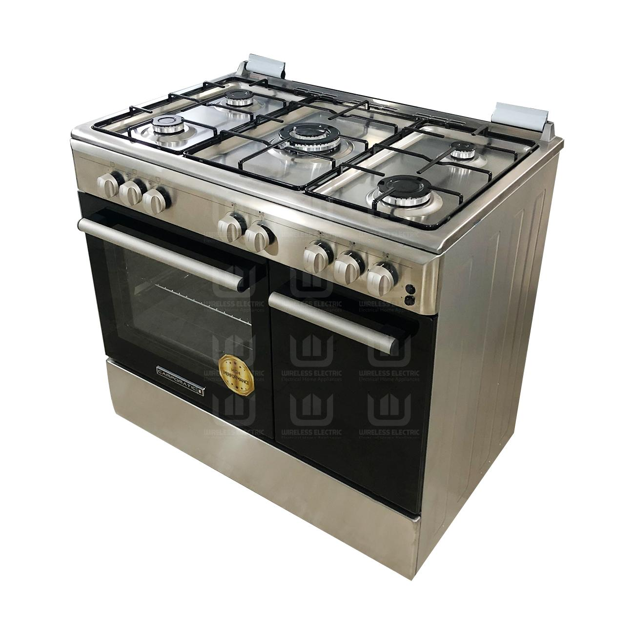 Campomatic Gas Cooker 5 Burners Stainless Steel CB95TSS