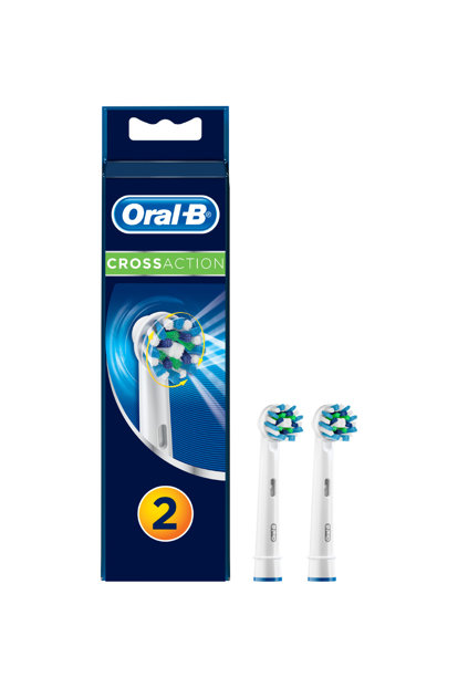 Toothbrush Replacement Headpiece Cross Action 2 Pcs EB50