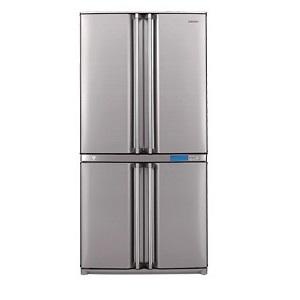 Sharp Side By Side 4 Doors Refrigerator, 26 Cubic Feet, Silver SJF82SL5