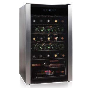 Silverline 19.8 in. 34-Bottle Freestanding Wine Cooler