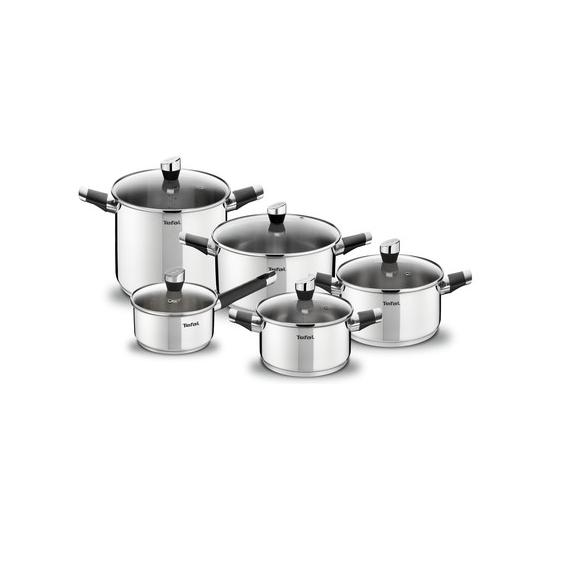Tefal Intuition SS v2 Set 10 pces (Saucepan 16+lid,Stewpot 18/20/24,Pastapot 22+lid) A702SA44