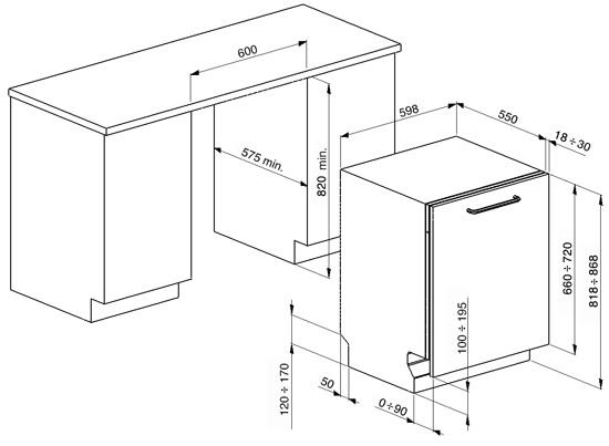 Smalvic Dishwasher 1018800005 60 cm 2