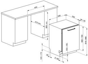 Smalvic Dishwasher Grey 60 cm 1018800001