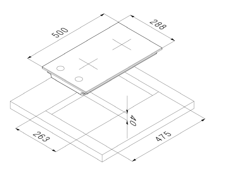 Smalvic Hob 30 cm PI-NC30 2G AA 2