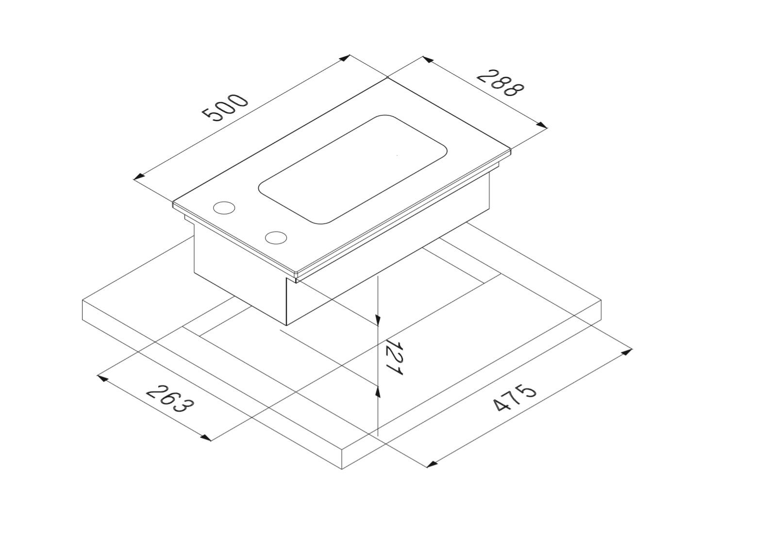 Smalvic Hob 30 cm INOX PI-NC30 FRIGGITRICE 2